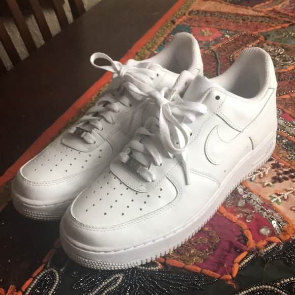 Nike Air Force 1 all white sneakers women size 10